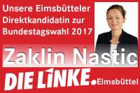 Zaklin Nastic, Direktkandidatin bei der Bundestagswahl 2017 der Partei DIE LINKE im Wahlkreis Eimsbüttel #btw17