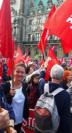 Zaklin Nastic #btw17 Bundestagswahl 2017 Auf einer Demonstration DIE LINKE Hamburg